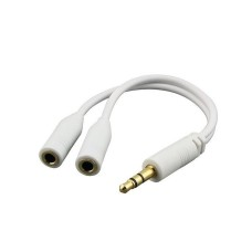 Gold Plated Audio Female Y Splitter AUX Auxiliary Stereo Splitter Cable