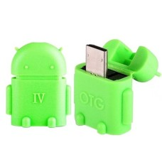 Android Robot Shape Micro USB OTG Adapter