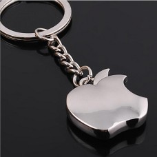 Apple Logo Chrome Metal Keychain (Small Size)