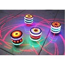 Laser Spinning Top with LED Light and Laser Toy