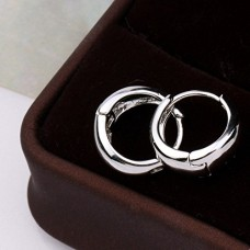 Salman Khan Inspired Silver Metal Kaju Bali Hoop Earrings For Men And Women