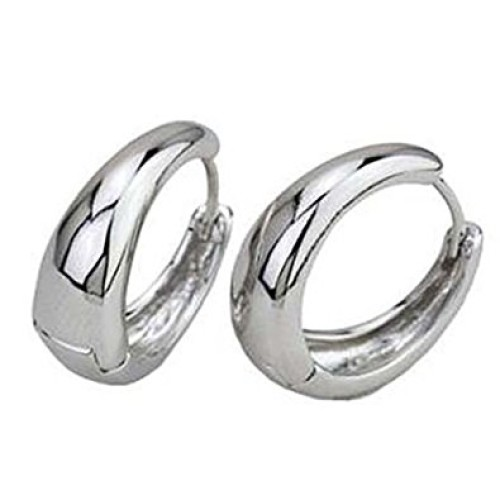 Salman Khan Inspired Silver Metal Kaju Bali Hoop Earrings For Men And Women