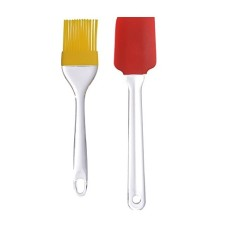 Silicone Spatula And Pastry Brush Set - For Cake Mixer, Decorating, Cooking, Baking