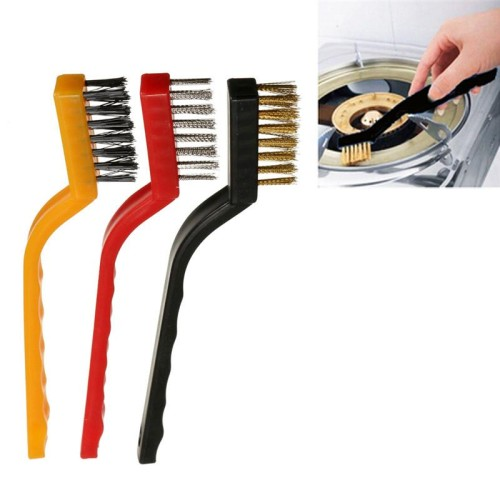 Set Of 3 Mini Wire Brush Cleaning Tool Kit Br Nylon Stainless